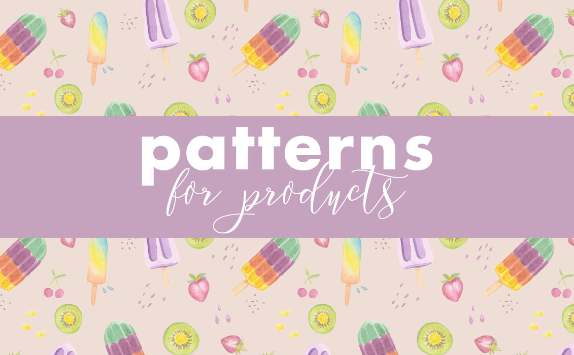 Watercolour Patterns for Products
